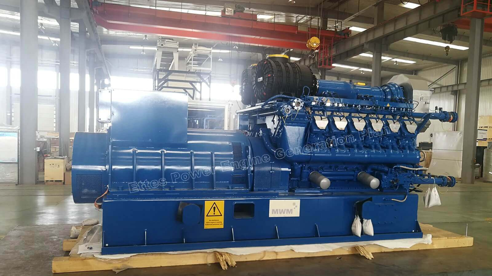 MWM Series 1600kW Sewage Gas CHP Unit to Indonesia